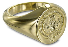 9 carat Oval Signet ring showing the superior shape supplied by Signets & Cyphers.